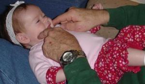 baby, grandparent