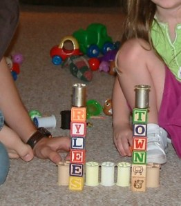block tower, building blocks, preschool blocks, preschool toys