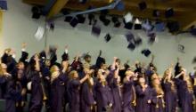 cap and gown, grads, graduation