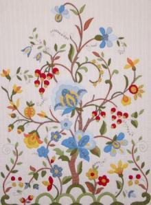tree quilt, flower quilt, tree of life quilt, paradise quilt