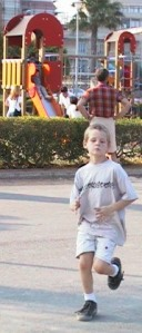 boy running, running in park