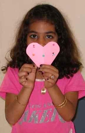 girl with heart, valentine girl, pink heart, valentine card