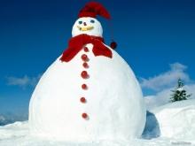 snowman, snow, snowflake