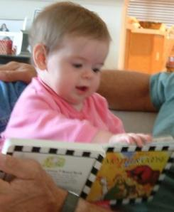 baby reading, book baby