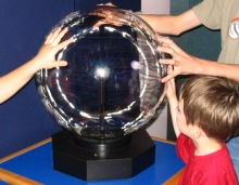 science, static ball, static electricity, science museum