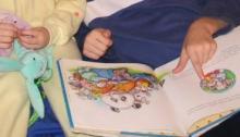 reading books, children reading, story time