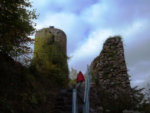 a slow climb, climbing, staircase, castle, stone wall, hiking, Germany, Nine Year Pregnancy, author, Delana Stewart, adoption, journey