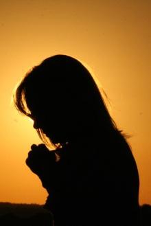 national day prayer, praying woman, praying sillhouette