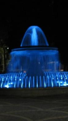 blue fountain, autism