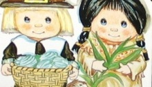 pilgrim boy, native american girl, indian, pilgrim, thanksgiving, harvest, first thanksgiving