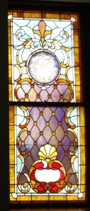 stained glass, stained glass window, church window