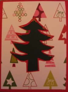 Christmas, Christmas Tree Card, Christmas Craft, x-mas tree