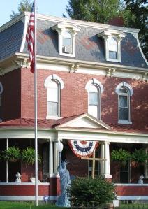 flag, statue of liberty, memorial, historic home