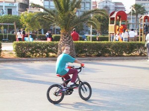 child cycling, park, playground
