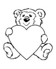 heart3, bear holding heart
