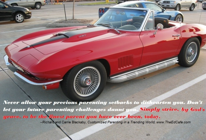 Custom car, corvette, parenting