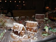gingerbread, village, Christmas, crafts