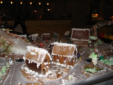 gingerbread, village, Christmas, crafts